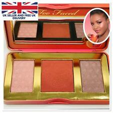 Too Faced Sweet Peach Glow Face Blusher Bronzing Highlighter-Eye Shadow Palette