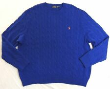 Polo Ralph Lauren Pony Cable Knit Sweater Crewneck Ski Pullover Jumper Big Tall