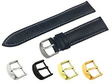 For Tissot Watch BLACK Genuine Leather Strap Band Buckle Clasp 18 19 20 21 22mm