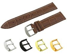 For Tissot Watch Brown Genuine Leather Strap Band Buckle Clasp 18 19 20 21 22mm