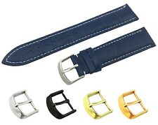 For Tissot Watch Blue Genuine Leather Strap Band Buckle Clasp 18 19 20 21 22mm