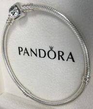 PANDORA Moments Silver Bracelet with Barrel Clasp 590702HV New Authentic