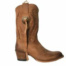 13394 Bottes femme Sendra western country marron série limited.