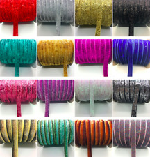 Neotrims Luxury Chenille Velour Velvet Ribbon Trimming for Sewing By the Yard