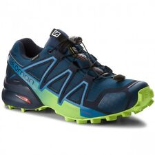 SALOMON SPEEDCROSS 4 GTX  SCARPA SPORT UOMO TRAIL RUNNING BLUE LIME GREEN