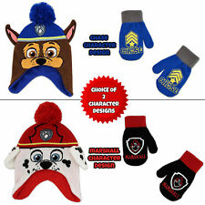 Nickelodeon Paw Patrol Hat and Mittens Cold Weather Set, Toddler Boys, Age 2-4