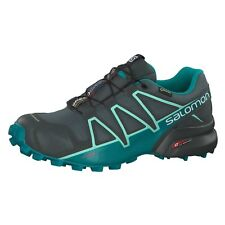 SALOMON SPEEDCROSS 4 GTX W SCARPA DONNA TRAIL RUNNING GREY BALSAM GREEN