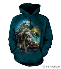 Wolf Pack Wolves Moon Forest The Mountain Pullover Hoodie Sweatshirt Jacket S-3X