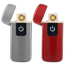 Fingerprint Touch Plasma Electric Lighter USB Rechargeable Windproof Flameless