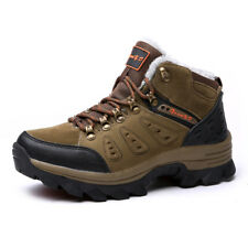 Men's Hiking Wool Fur inside Outdoor Trekking Sneakers Mountain Climbing Shoes