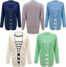 Twin Set Striped Knitted Jumper Lot Womens Plus Size Crew Neck Casual Cardigan