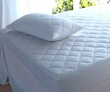 Fitted Waterproof Quilted Poly Cotton Mattress & Pillow Protector Topper Cover