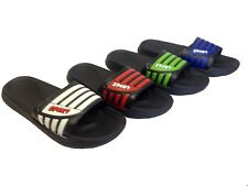 New Mens Gents Sandals Slip Ons Slippers Beach Home Flip Flops Mules Shoes Size