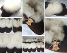 Women/Ladies 100 %Genuine  Sheepskin Slippers, Chocolate Colour