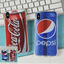 Funny Coke & Pepsi Can Silicone Case Cover For iPhone XR XS Max X 8 7 6 Plus 5