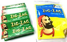 ZIG ZAG GREEN REGULAR STANDARD SMOKING ROLLING PAPERS + PACK OF FILTER TIPS P&P
