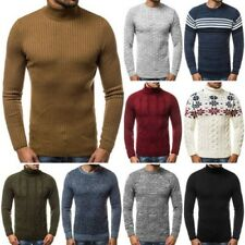 Pull Tricot Maillot Manches Longues Sweatshirt Col Roulé Homme Ozonee 8332