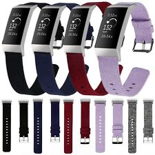 Nylon Woven Fabric Wristband Watch Strap For Fitbit Charge 3 Fitness Tracker