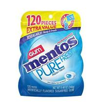 Mentos Pure Fresh Sugar-Free Chewing Gum with Xylitol, Fresh Mint, 120 Piece