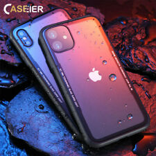 Ultra Thin 0.7mm 9H Tempered Glass Bumper Case Cover - iPhone XR XS Max X 8 7 6