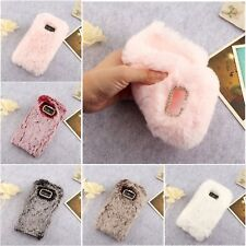 Protective Plush Faux Rabbit Fur Case Cover For Samsung Galaxy S9 J4 J6 Xcover 4