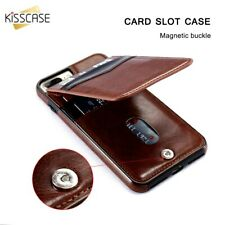 Retro Leather Flip Card Holder Wallet Case Cover - iPhone XR XS Max X 8 7 6 Plus