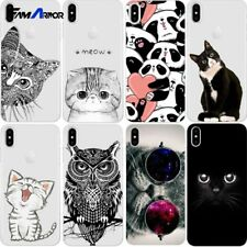 Cute Cartoon Kitty Cat Pattern Case Cover For iPhone XR XS Max X 8 7 6 Plus 5 SE