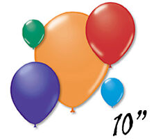 """10"""" Assorted Rainbow 6 Color Mix Latex Balloons Choose Pack Event Celebration"""