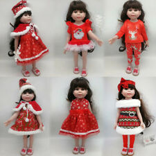 "Hat Dress Clothes for 18"" American Girl Our Generation Doll Christmas Dress Up"