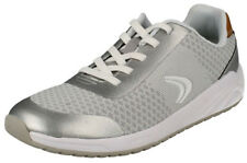 Clarks FRISBY FUN Girls Silver Machine Washable Trainers 10 - 6 EFG NEW BOXED