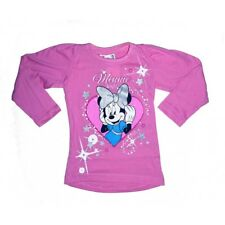Minnie Tee Shirt manches Longues fille - Bleu - Disney Minnie Mouse