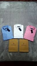 Polo Ralph Lauren Camicia Oxford Custom Fit Manica Lunga Rosa Blu Bianco