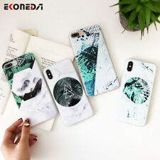 Patterned Marble Street Art Soft Silicone Case Cover For iPhone XS X 8 7 6 Plus