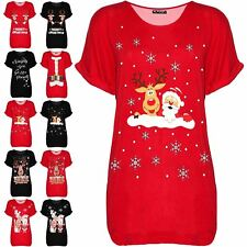 Women Naughty Girls Get More Presents Ladies Christmas Oversized Baggy T Shirt