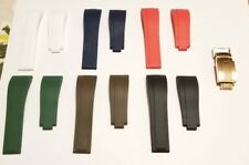 USA - Rubber Strap Band for ROLEX OYSTER FLEX + RG Deployment Buckle Clasp 20mm