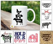 Country life mugs, gifts for her, gifts for him. Mugs. Christmas gifts