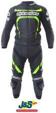 Alpinestars Claw 2PC Leather Motorcycle Suit Monster Energy Race Black Green J&S