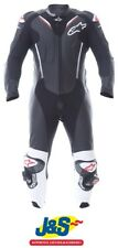 Alpinestars Atem V3 1PC Leather Motorcycle Suit Race Motorbike Black White J&S