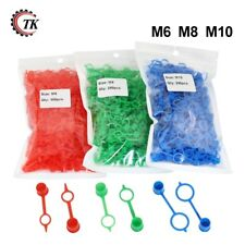800PCS Grease Fitting Caps RED Polyethylene Dust Caps for M6 M8 M10 Metric