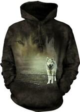 The Mountain GREY WOLF PORTRAIT Pack Wolves Pullover Hoodie Sweatshirt Jacket