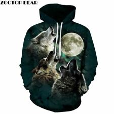 Wolf Pritned Men Women Hoodies 3D Hooded Sweatshirts Autumn Spring Pullover Fash