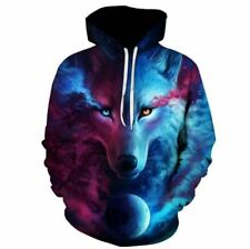 Hot Sale Brand Wolf Hoodies Men/Women Space Galaxy 3D Sweatshirts High Quality P