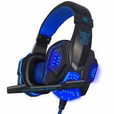 Gaming Big Headset Wired Headband Headphones with Mic/LED Light Over Ear Stereo