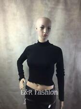 ZARA BLACK CROPPED TURTLE NECK JUMPER  (B2) REF: 2619 014