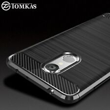 Carbon Fiber Brushed Shockproof Silicone Case Cover For Xiaomi Redmi 5 & 5 Plus