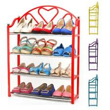 4 Tier Stack Shoes Display Storage Organizer Rack Stand Shelf Holder Unit
