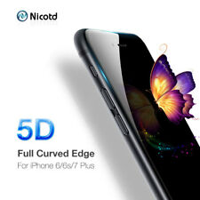 Nicotd 5D Tempered Glass for iPhone 7 plus Screen Protector For iPhone 8 plus
