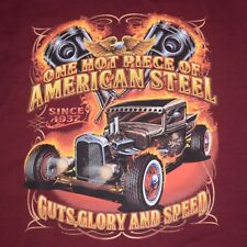 Hot Rod T Shirt Rat Rod Vintage Ford Truck Flames Mens Sizes S to 6XL and Tall