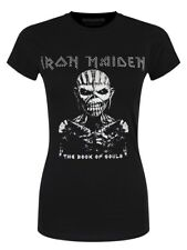 Iron Maiden Book Of Souls Diamante Women's Black T-shirt