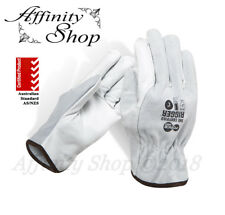 2x Force360 Certified Split Leather Rigger Gloves Cowhide Riggers Work Glove